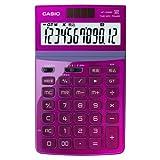 [カシオ 8137739] デザイン電卓 12桁 ピンク JF-Z200-PK-N