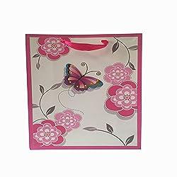 Pink Flower Gift Bag (Set of 2)