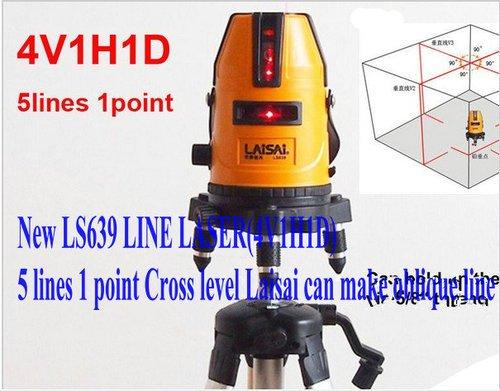 Gowe Line Laser(4V1H1D) 5 Lines 1 Point Cross Level Laisai Can Make Oblique Line
