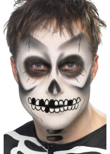 Smiffys Skeleton Halloween Day of the Dead Costume Makeup Kit