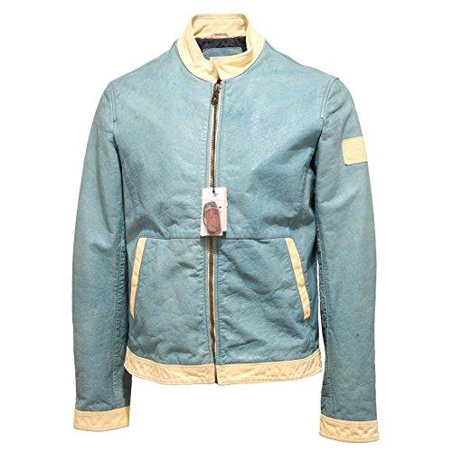 2560O giubbotto ARMANI JEANS azzurro effect vintage giubbotti uomo jackets men [50]