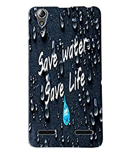Fuson Water Meaningful Text Back Case Cover for LENOVO A6000 - D3697