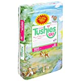 Tushies Diapers, Medium (12-24 Pounds), 30 Count (Pack of 4)