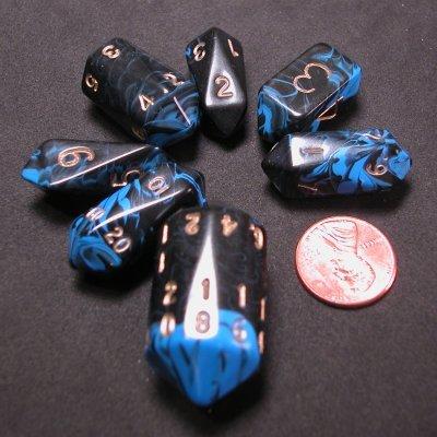 Crystal Dice in Oblivian Blue Color Dice Set