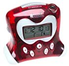 Oregon Scientific RM313PA/R ExactSet Fixed Projection Alarm Clock - Red