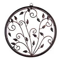 16in 'Circle of Harmony' Metal Round Wall Art