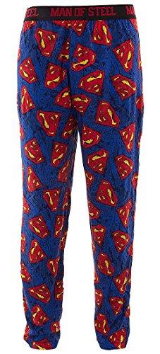 DC Comics Men's Cotton Superman Logo Lounge Pants M (Superman Pants compare prices)