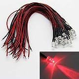 20個 プレ 配線 5mm クール LED 電球 20cm 配線済み 12V DC LED ランプ