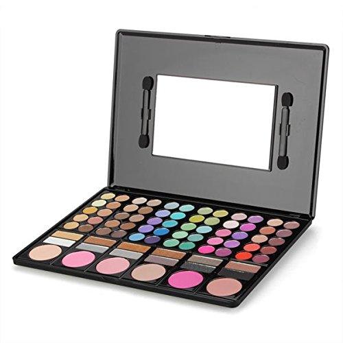 Paletta 78 Colori Ombretti Blush Make Up Trucco Specchio Pennelli