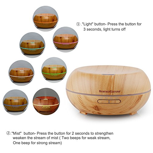 Aromatherapy essential oil diffuser wood grain relaxation for Decorative diffuser