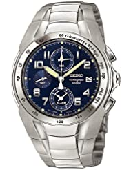 Seiko Men's SNA471 Alarm Chronograph Watch