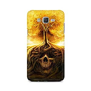 Mobicture Skull Paint Premium Printed Case For Samsung J1 2016 Version