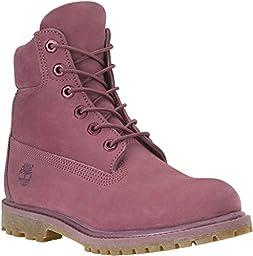 Timberland TB08260B661 Women\'s 6-in Premium Boot Violet Quartz Nubuck 9 M US
