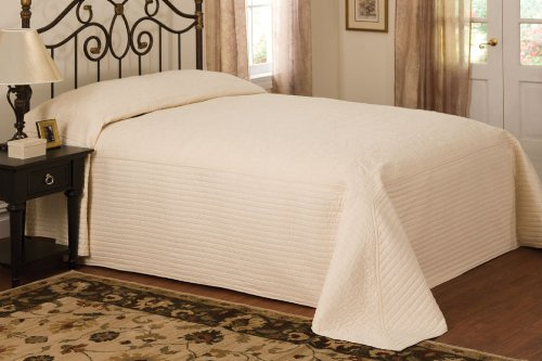 Fantastic Deal! American Traditions French Tile Bedspreads, Queen, Ivory
