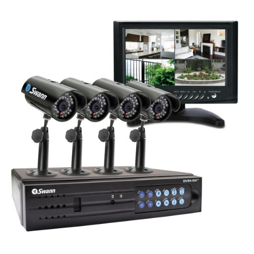 Swann DVR4-950 with 4 PNP 150 Cameras LCD and 320 H/Drive