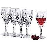 White Wine Glasses - Set of 4 - 12-Ounce - Superior Lead Free Crystal -Beautifully Designed Stemware Wine Glasses-