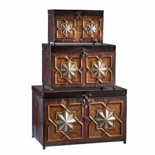 Southern Enterprises Morocco 3 Piece Trunk Set