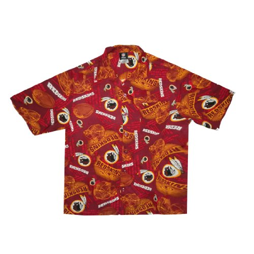 Limited Edition: Nfl Mens Washington Redskins Hawaiian Shirt Medium Multicolor