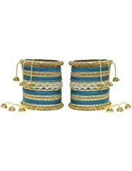 MUCH MORE Ethnic Collection Charming Bangles With Zircons Made Kada For Women Wedding Jewelry - B01KVMTV7E
