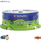 CD-RW 700MB Rewritable High Speed Recordable Disc Spindle Pack Of 25 And Free 6 Feet Netcna HDMI Cable - By NETCNA