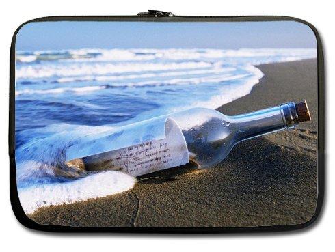 Message Drift Bottles On Sea Beach 11 Inch Laptop Sleeve Bag For Laptop / Notebook / Ultrabook / Macbook front-24397