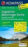 Zugspitze - Mieminger Kette - Ehrwald - Lermoos - Garmisch-Partenkirchen - Reutte: Wanderkarte mit Aktiv Guide,  Radwegen und Skirouten. GPS-genau. 1:50000 (KOMPASS-Wanderkarten)