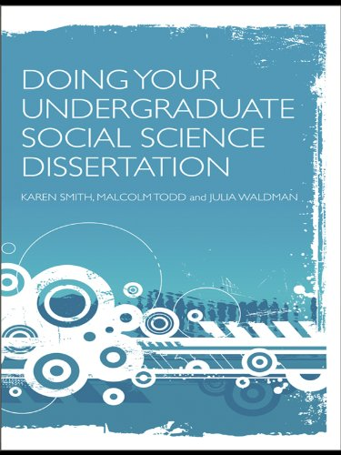 doing your undergraduate social science dissertation routledge
