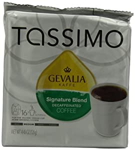 Gevalia Signature Blend Decaf, 16-Count T-Discs for Tassimo Brewers (Pack of 3)
