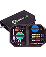 Professional Sewing Kit - Retractable Tape Measure & Premium Sewing Supplies - Excellent Sewing Starter Kit For Kids, Adults & Beginners - Perfect Gift for Home, Students, Travel, Camping & Emergency Essentials - 100% Money Back Guarantee + FREE BONUS EBOOK