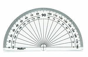 Helix - Transportador de ángulos (10 cm, 180 grados, 50