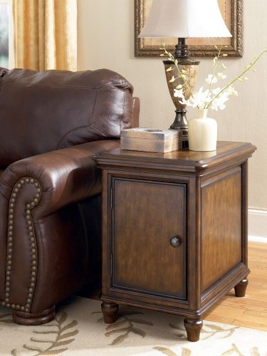 Cheap Traditional Dark Brown Jamison End Table w/ Storage (T703-3)