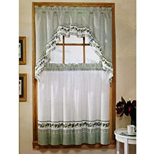 Ivy Print 36 Swag Kitchen Curtain Set By United Window Treatment Curtains