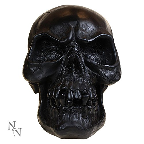 "Nemesis Now-Statuetta Macabre "", motivo: teschio nero, 30 cm"