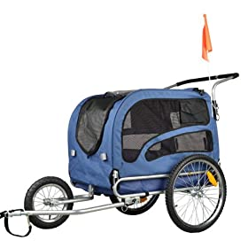Doggyhut Large Pet Bike Trailer   Jogger Kit Dog Bicycle Carrier Blue  7030202 price 1179933b8