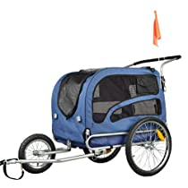 Doggyhut Large Pet Bike Trailer / Jogger Kit Dog Bicycle Carrier Blue 7030202