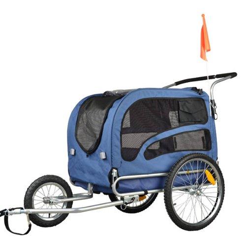 Doggyhut Large Pet Bike Trailer / Jogger Kit Dog Bicycle Carrier Blue ...