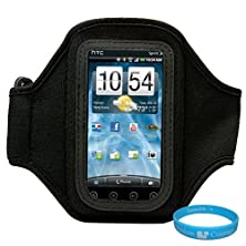 buy Black Neoprene Protective Exercise Workout Armband For T-Mobile Htc Mytouch 4G Slide Android Smartphone + Sumaclife Tm Wisdom Couarge Wristband
