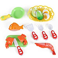 buy Kitchen Fun Seafood Hot Pot Dinner Cutting Food Playset For Kids With Egg And Vegetable
