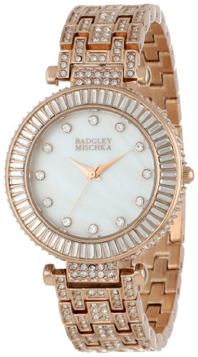 badgley-mischka-womens-ba-1222wmrg-swarovski-crystal-accented-rose-gold-tone-bracelet-watch