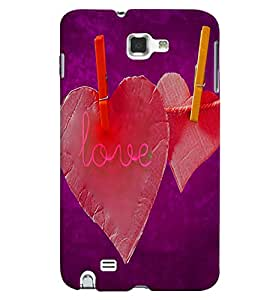 PrintVisa Romantic Love 3D Hard Polycarbonate Designer Back Case Cover for Samsung Galaxy Note 2
