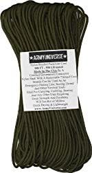 550lbs. Military Paracord Type III Rope 100' Olive Drab
