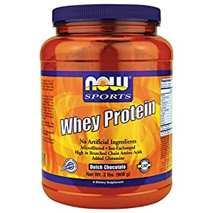 Now Foods Whey Protein Dutch Chocolate - 2 lb 2 Pack