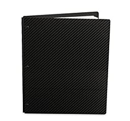 Pina Zangaro Carbon Fiber 8.5x11 Portrait Screwpost Binder, Black