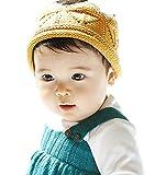 (ケイグラッソ)K-grasso+ 【 選べる 4色 】 ベビー ニット クラウン 王冠 誕生日 バースデー 記念 セレモニー 撮影 赤ちゃん 出産 お祝い プレゼント 退院 お宮参り (03. イエロー)