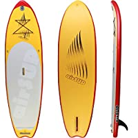 "airSUP 9'6""x32""x4"" Inflatable SUP 15psi Stand Up Paddleboard, Roll It up and Store in the Bag! Yellow, Super Light! from airSUP"