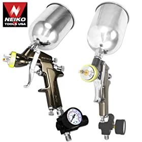 Professional Grade 1.7mm HVLP Air Spray Gun with Gun Metal Finish