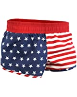 American Flag Women's Printed Shorts