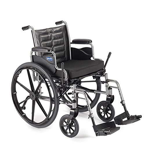 Lightweight Manual Wheelchair (Invacare Tracer EX2 – Size 18 x 16 – Medium, TREX28RP w/Swingaway Footrests with Heel Loops, T93HA & Removable Desk-Length Arms)