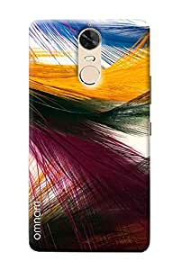 Omnam Feather Effect With Colors Printed Designer Back Cover Case For Lenovo K5 Note