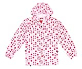Ladies XL Red & Pink Spot Waterproof, Windproof, Breathable Dotty Spotty Jacket Size 18